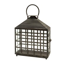 Drake Iron and Glass Candle Lantern