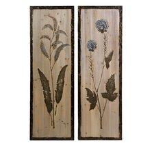 CKI 2 Piece Hansel Floral Study on Wood Set
