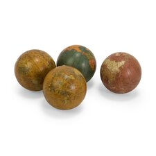 "Globe 4"" Spheres Set (Set of 4)"