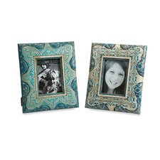 2 Piece Haani Hand Painted Picture Frames Set