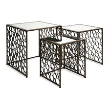 Brighton 3 Piece Mirror Top Nesting Tables Set