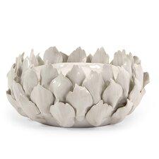 Low Artichoke Ceramic Candle Holder