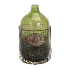Decorative Caged Glass Jug