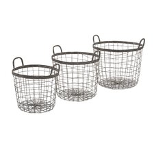 3 Piece Metro Wire Basket Set