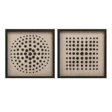 Hemshall Modern Artwork 2 Piece Graphic Art Set