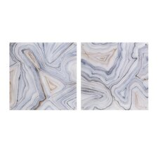 Agate Abstract 2 Piece Painting Print Set