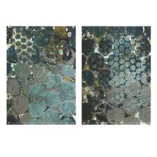 Callais 2 Piece Painting Print Set