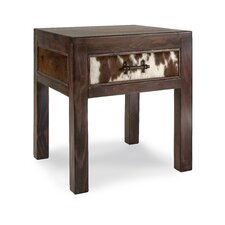 Durango Cowhide End Table