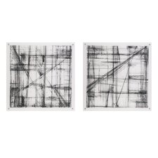 Intersect 2 Piece Painting Print Set