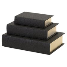Nikki Chu 3 Piece Shagreen Book Boxes Set