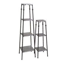 Gilbert 2 Piece Galvanized Shelves Set