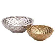 Nikki Chu 2 Piece Coralin Ceramic Bowl Set
