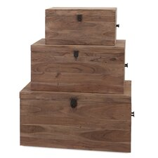 Urban 3 Piece Acacia Wood Trunk Set