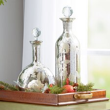 2 Piece Lidded Decorative Bottle Set