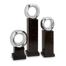 Ellipse Poly Resin Votives (Set of 3)