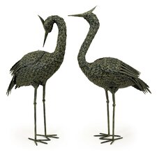 2 Piece Metal Coastal Bird Set