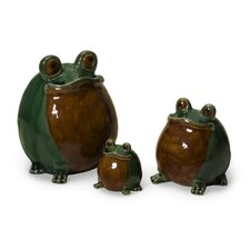 3 Piece Frog Family Figurine
