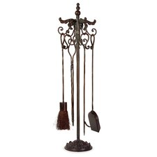 Royal 4 Piece Wrought Iron Fireplace Tool Set
