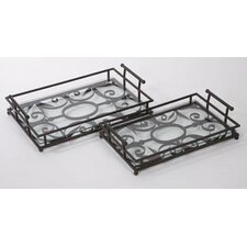 <strong>IMAX</strong> Eden Rectangular Serving Tray (Set of 2)
