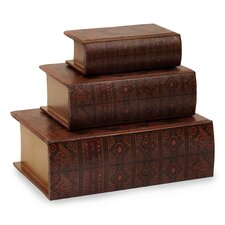 3 Piece Nesting Wooden Book Box Set