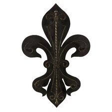 Fleur-De-Lis Two Layer Wall Plaque