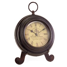 Desk Clock in Brown