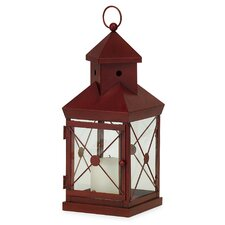 Wrought Iron and Glass Lantern