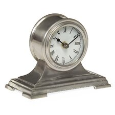Small Desk Clock in Pewter