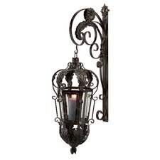 Balfour Wrought Iron and Glass Lantern