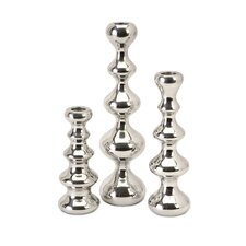 Chesire Aluminum Candlestick (Set of 3)