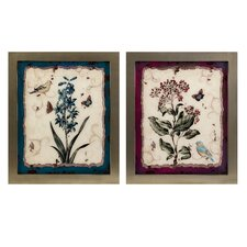 Minerva Glass Flower Wall Decor (Set of 2)
