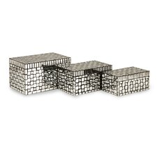 <strong>IMAX</strong> Foley Mirror Mosaic Boxes (Set of 3)
