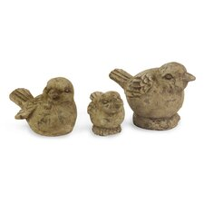 3 Piece Ceramic Birds Figurine