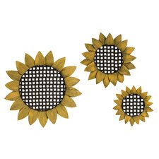 Sunflower Tray Wall Decor (Set of 3)