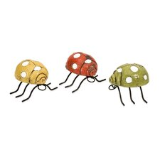 <strong>IMAX</strong> Corette Lady Bug Wall Décor (Set of 3)