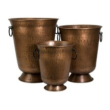 Meziere Copper Plated Planters (Set of 3)