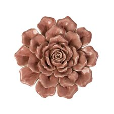 Isabella Medium Ceramic Wall Decor Rose
