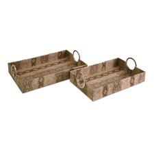 Castel Trays (Set of 2)