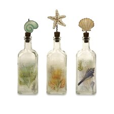 Burton Coastal Glass Bottles (Set of 3)