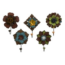 Caldwell Floral Coat Hook (Set of 5)