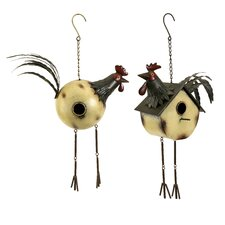 Donnelly Rooster Birdhouses - Set of 2
