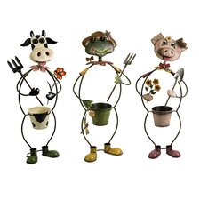 <strong>IMAX</strong> Farmhouse Friends Planters (Set of 3)