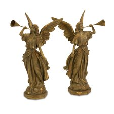 Trumpet Angels (Set of 2)