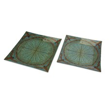 Tate Glass Trays (Set of 2)
