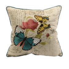 Margaret Embroidered Butterfly Cotton Pillow