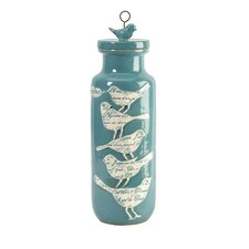 Adelaide Large Script Birdy Jar with Lid