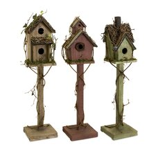 Carthage Free Standing Birdhouse (Set of 3)