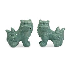 <strong>IMAX</strong> Choo Foo Dog Figurine (Set of 2)