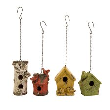 Mercade Hanging Birdhouse (Set of 4)