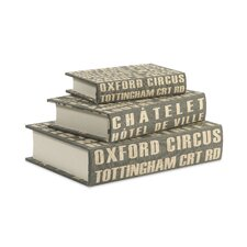 <strong>IMAX</strong> Central Line Book Boxes (Set of 3)